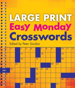 Large Print Easy Monday Crosswords
