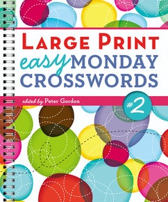 Large Print Easy Monday Crosswords #2