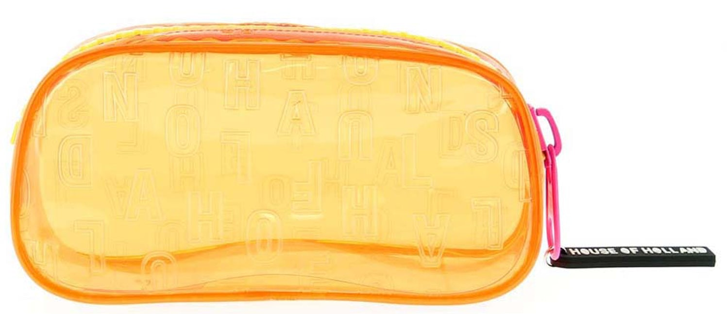 House of Holland Chunky Pencil Case (Orange)