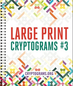 Large Print Cryptograms #3