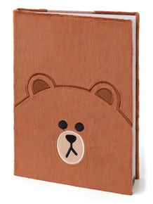 Line Friends Plush Notebook (Brown)