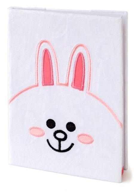 Line Friends Plush Notebook (Cony)
