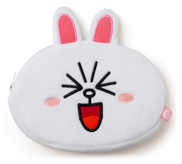 Line Friends Plush Pencil Case (Cony)