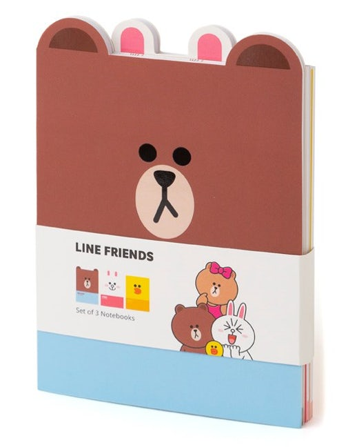 Line Friends Set of 3 Notebooks