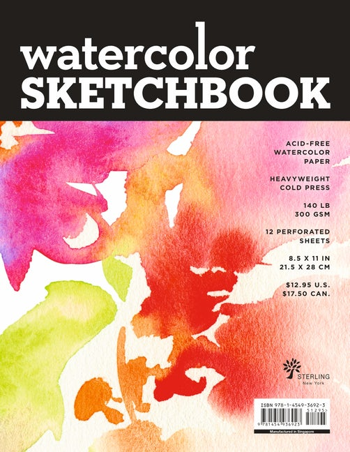 Watercolor Sketchbook - Large Black Fliptop Spiral (Landscape)