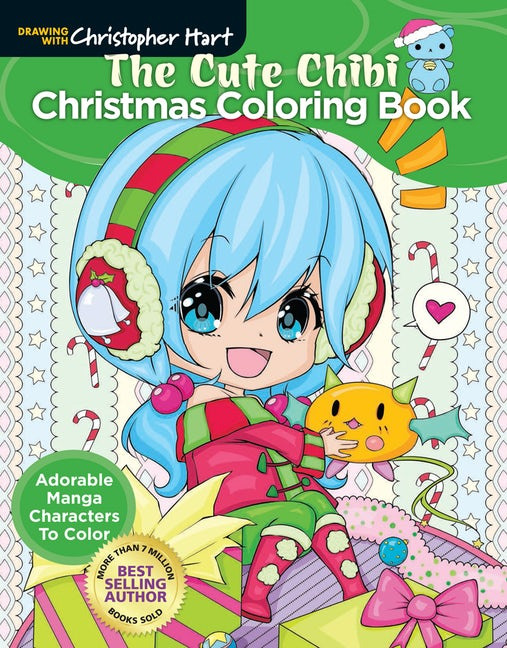 The Cute Chibi Christmas Coloring Book