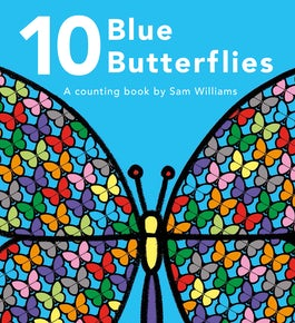 10 Blue Butterflies